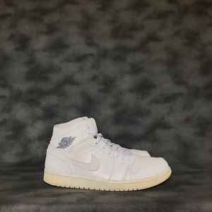 Jordan 1 Retro Mid White Cool Grey Sneakers